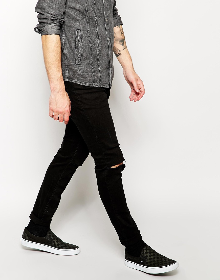 cheap monday ripped skinny jeans - Jean Yu Beauty