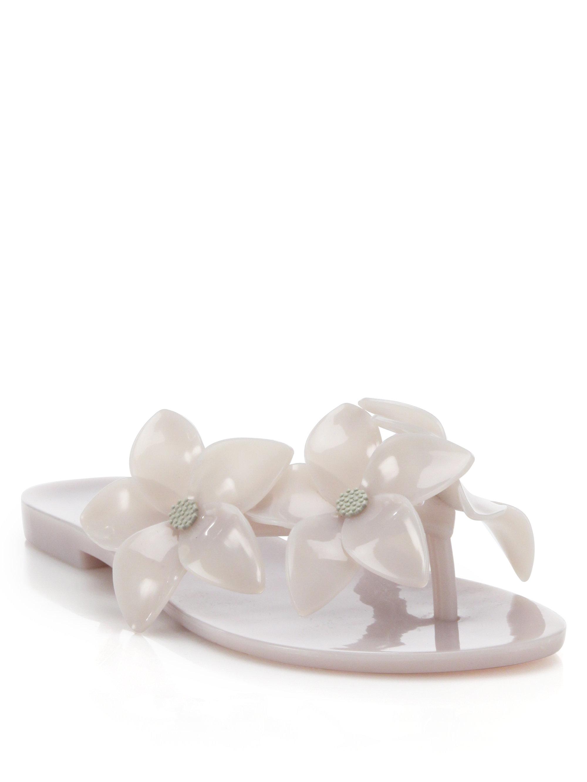 Lyst Melissa Harmonic Flower Jelly Flip Flops In White