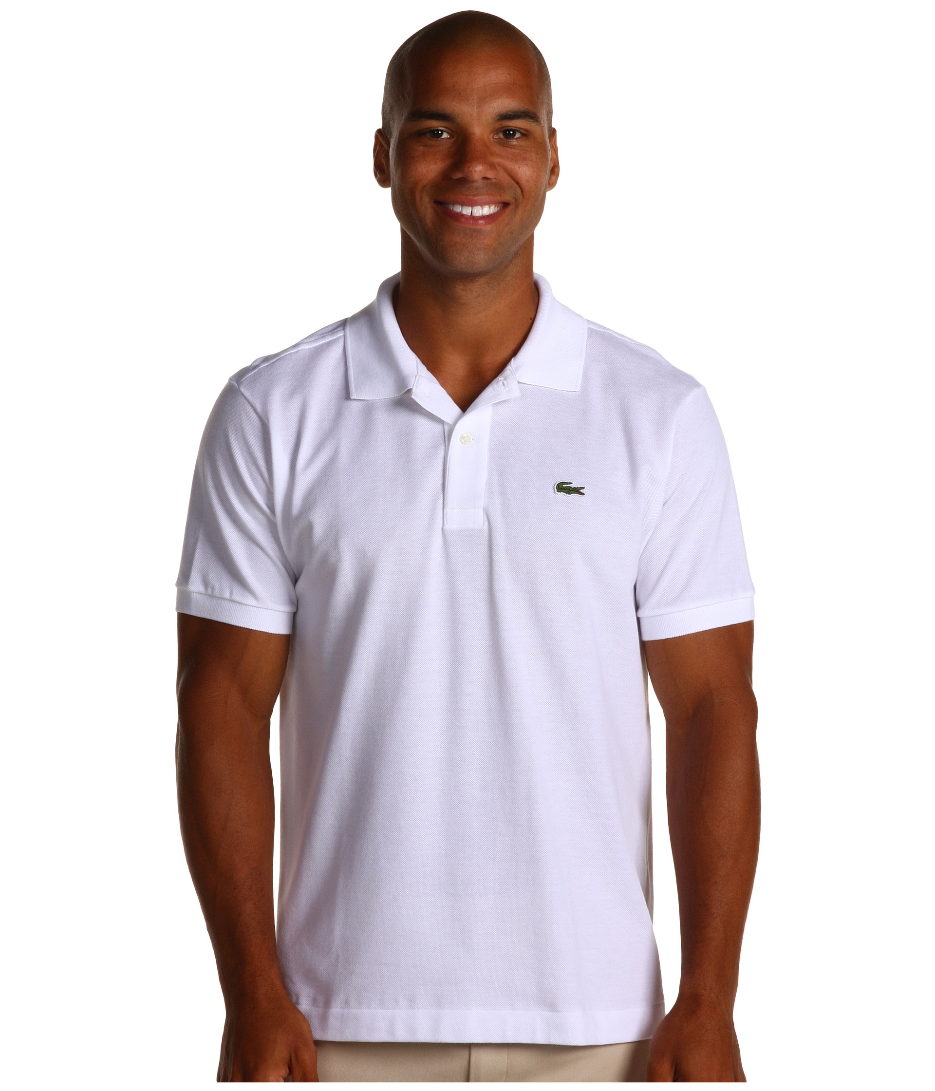 lacoste l1212 classic pique polo shirt in white for men lyst. Black Bedroom Furniture Sets. Home Design Ideas