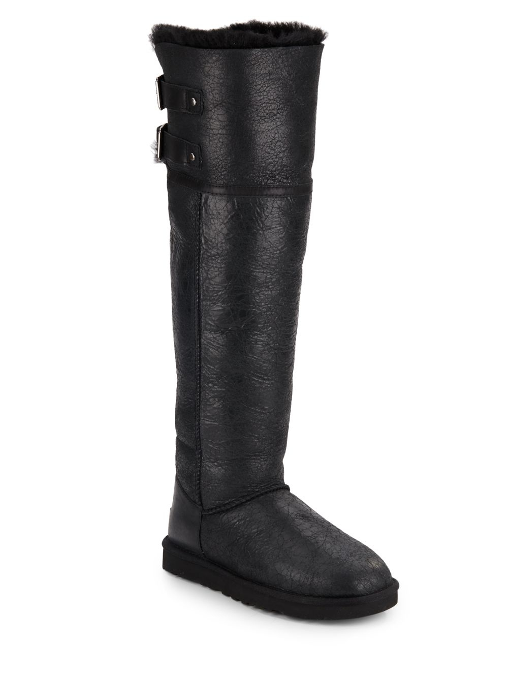 Ugg Devandra Convertible Shearling-lined Leather Over-the-knee