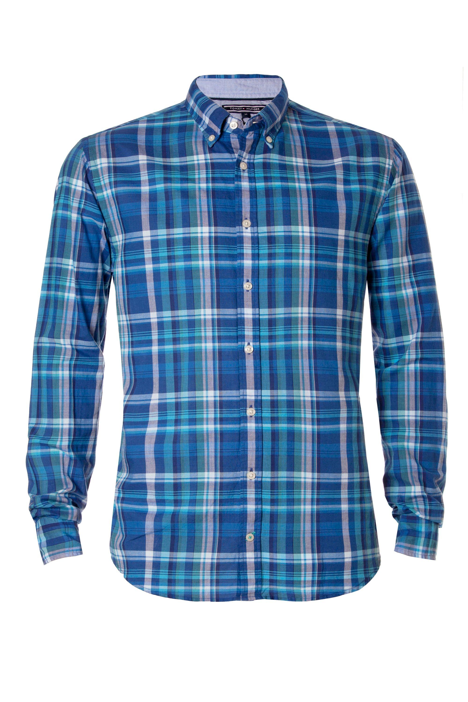 Tommy Hilfiger Kevin Check Shirt In Blue For Men Twilight