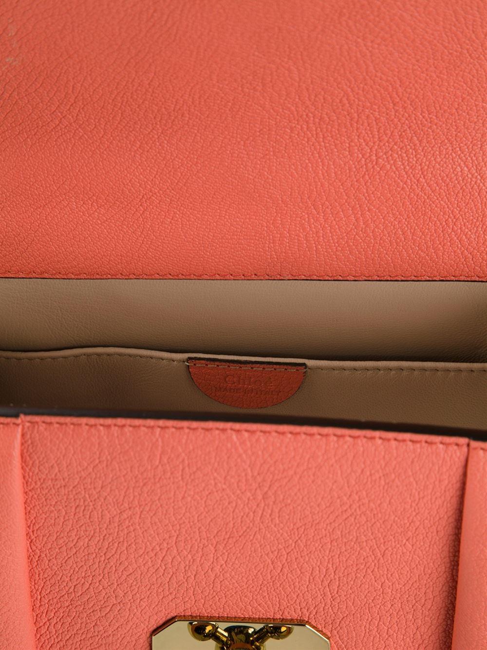 Chlo¨¦ Elsie Leather Cross-Body Bag in Pink (yellow \u0026amp; orange) | Lyst