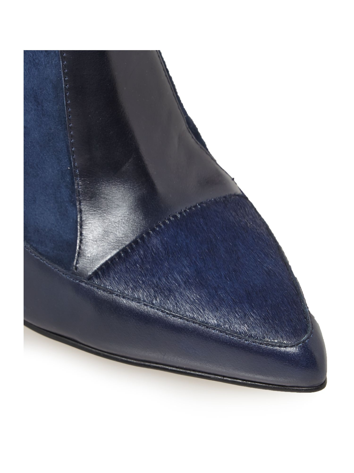connection berne wedge ankle boots in blue lyst
