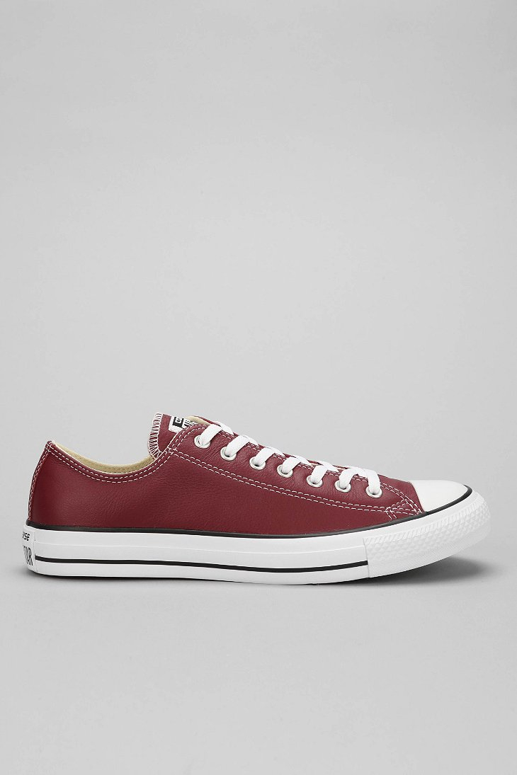 Lyst - Converse Chuck Taylor All Star Leather Low-Top Men S Sneaker ... 5f5c63b3e