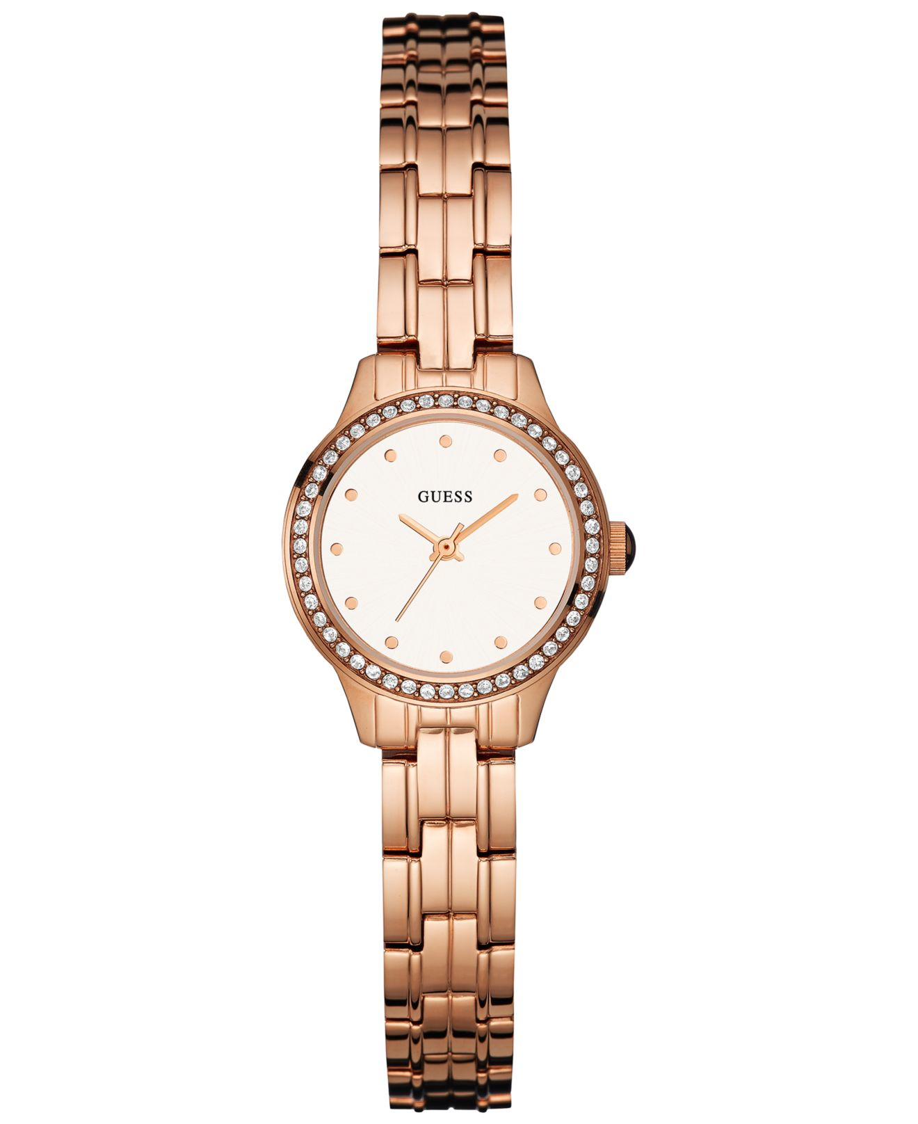 30646e978f Guess Women's Rose Gold-tone Stainless Steel Bracelet Watch 23mm ...