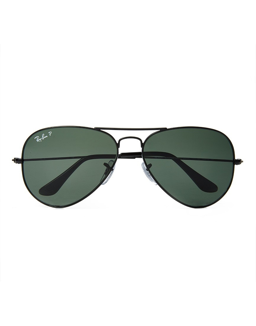 Ray-ban Aviator Sunglasses With Polarised Lenses in Black ...