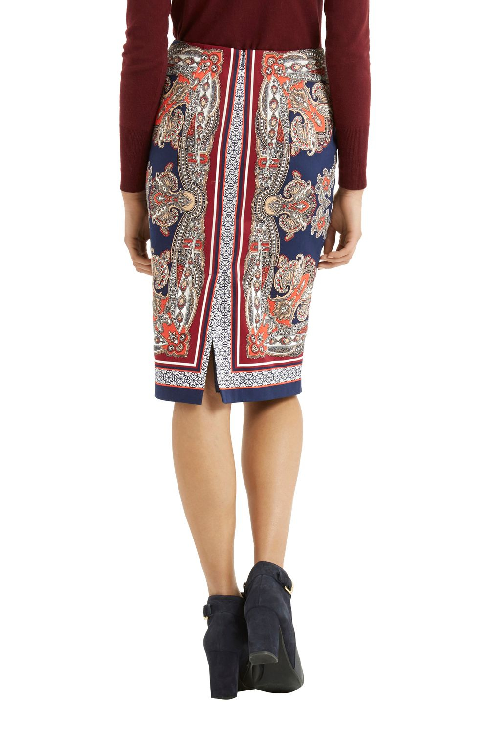 Oasis Paisley Pencil Skirt | Lyst