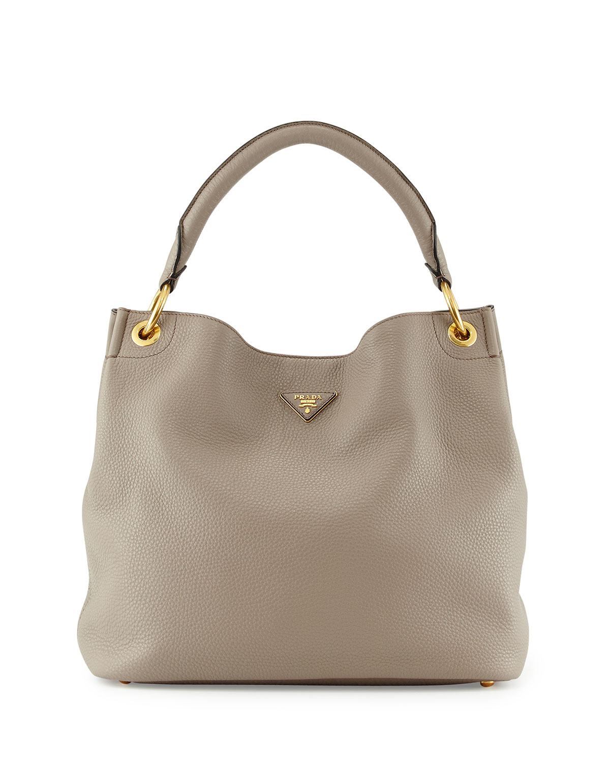 cc3e4881299e Lyst - Prada Vitello Daino Single-strap Hobo Bag in Gray