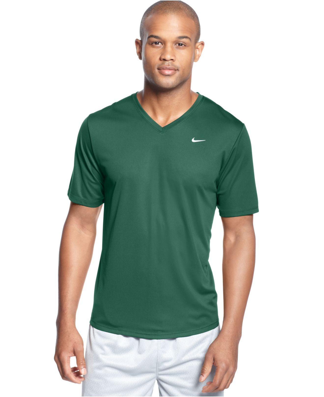 39420f64 Nike Challenger V-Neck T-Shirt in Green for Men - Lyst