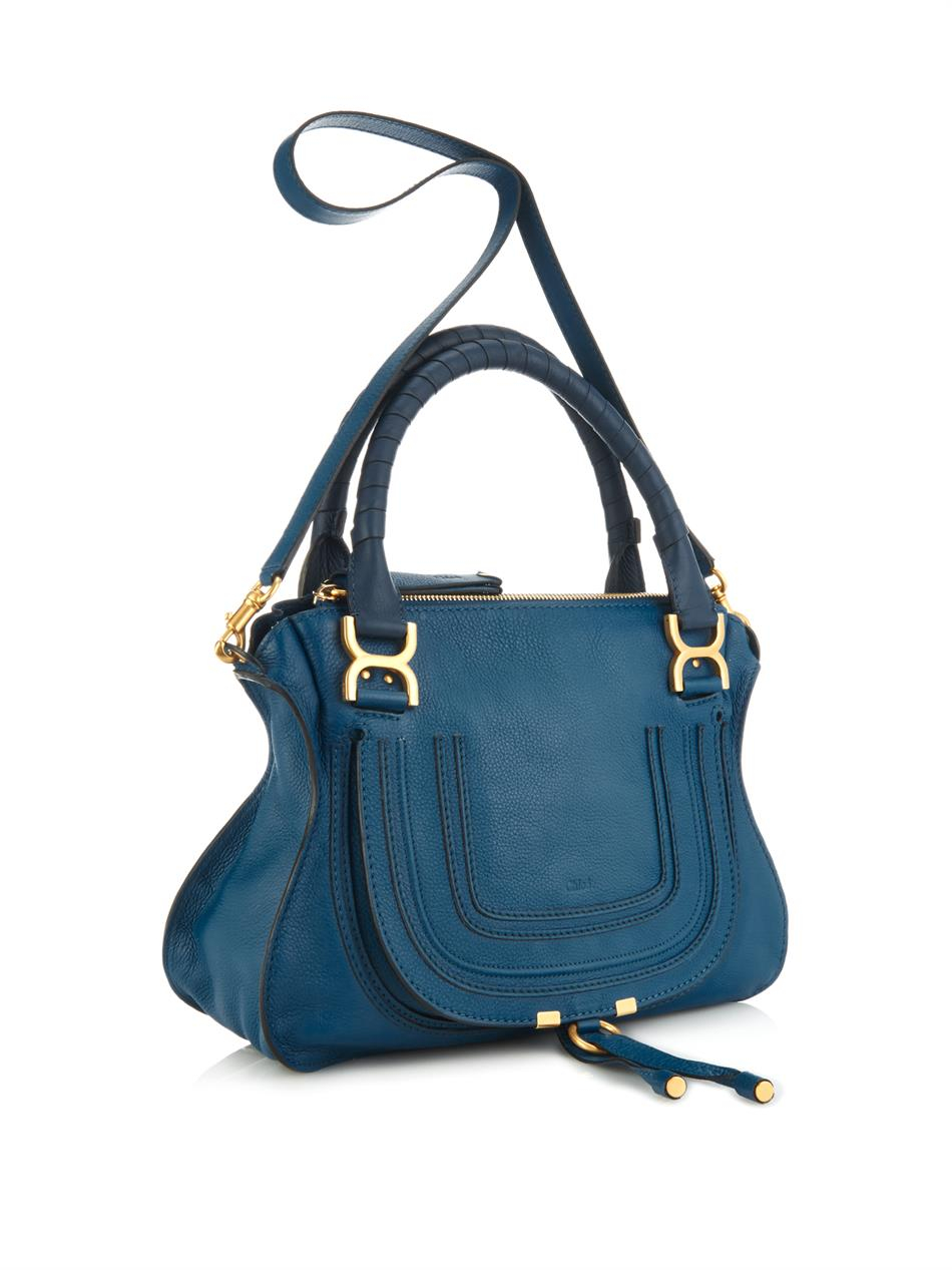 Chlo¨¦ Marcie Medium Tote in Blue | Lyst