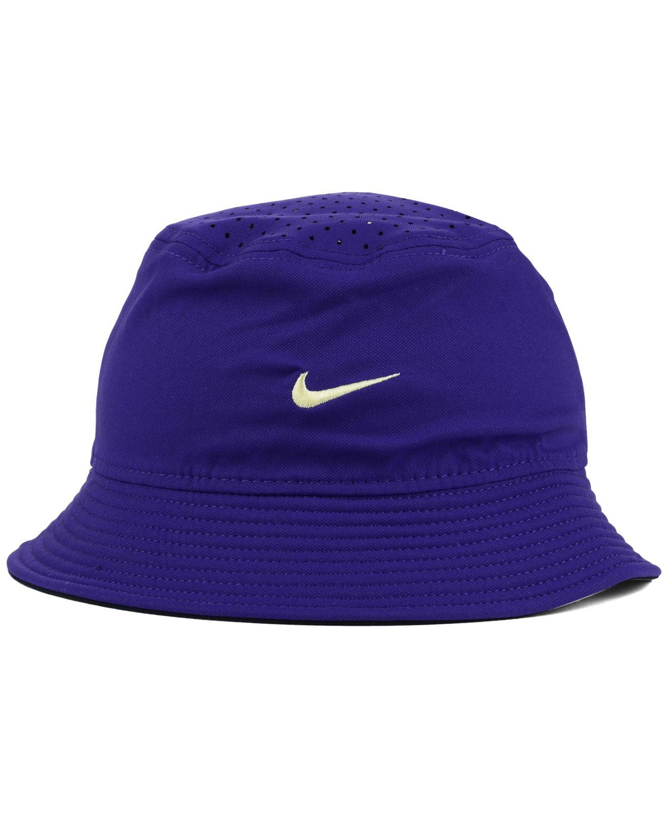 Lyst - Nike Washington Huskies Vapor Bucket Hat in Purple ...