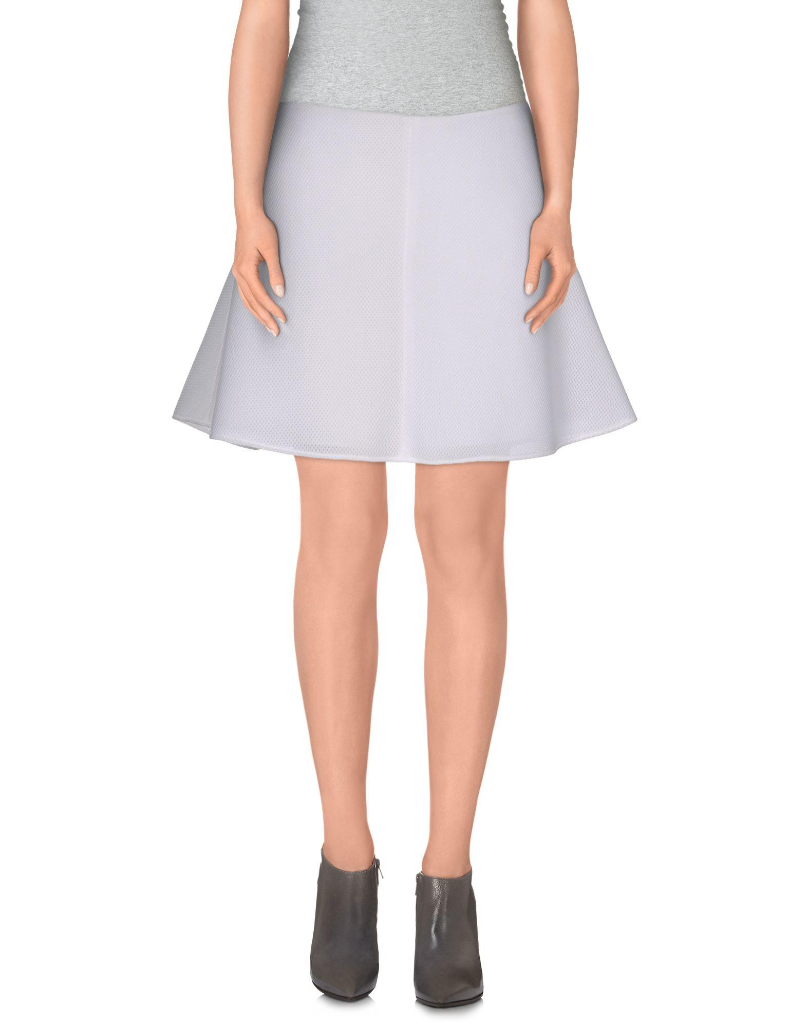 pinko mini skirt in white lyst