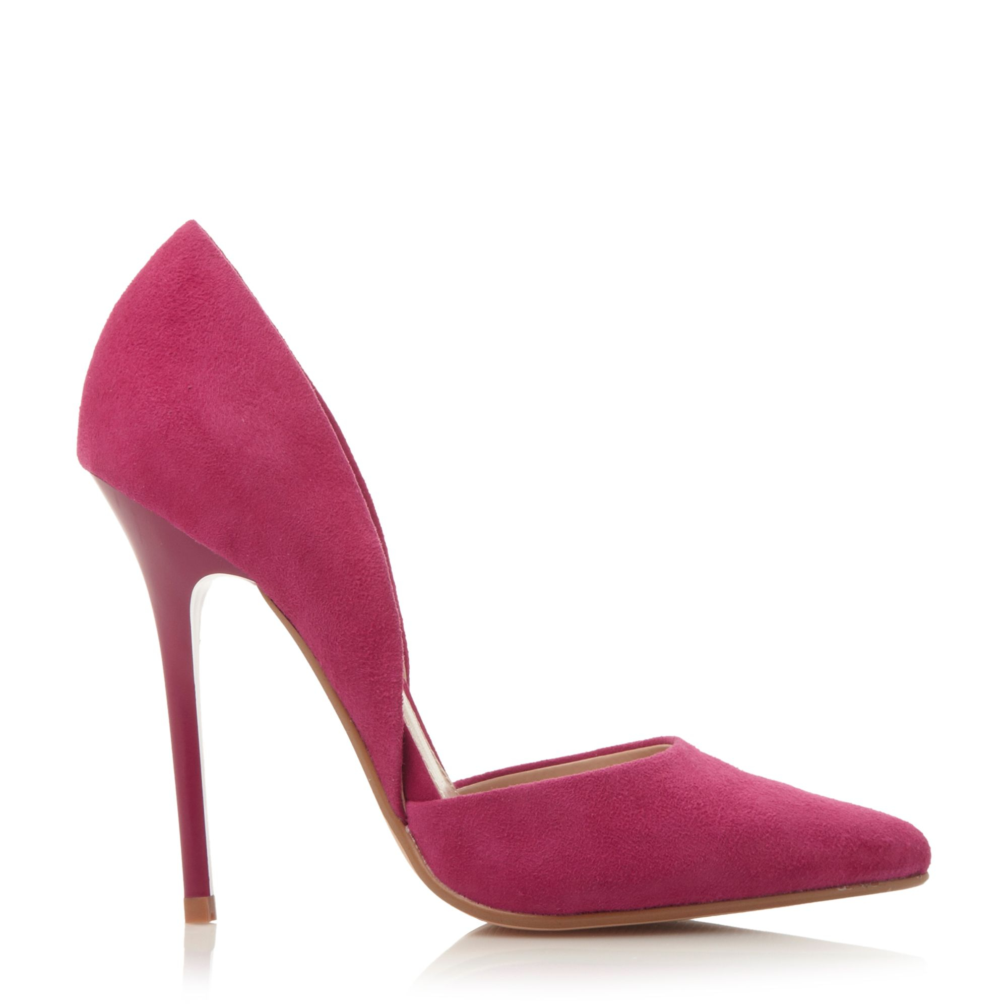 Purple Court Shoes Low Heel