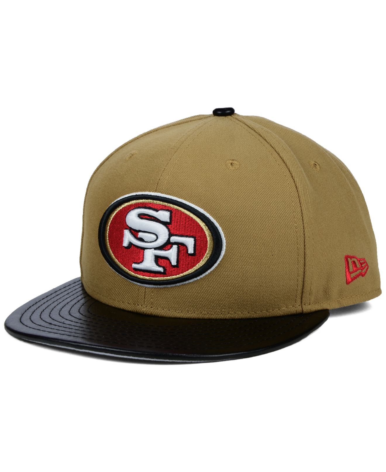 discount code for lyst ktz san francisco 49ers faux leather wheat 9fifty  snapback 97bcb 8e38d ca18f8b37a3c