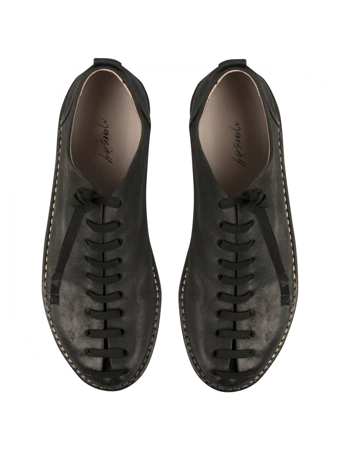 mars 232 ll black leather lace up shoes in black for lyst