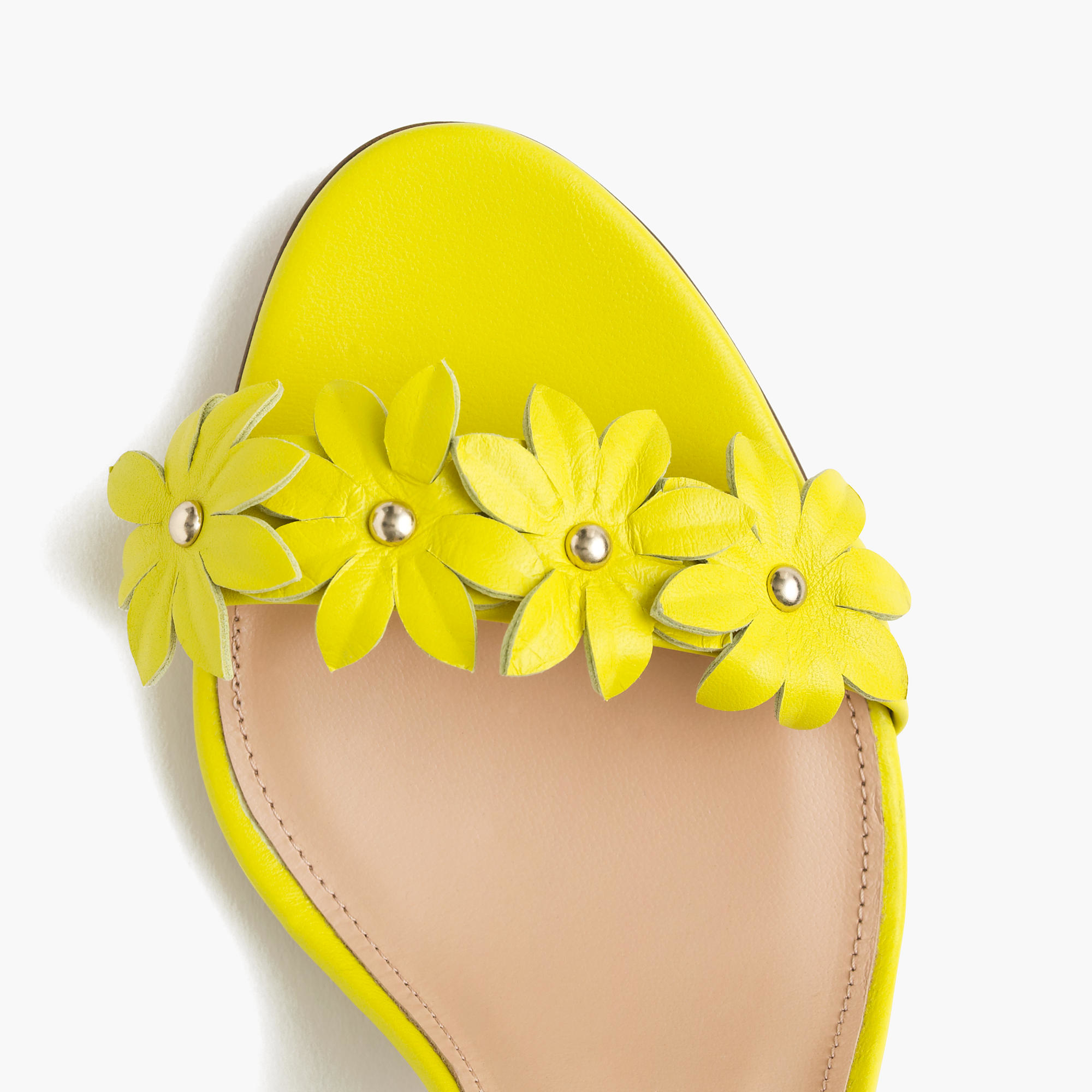 Yellow Heels With Ankle Strap