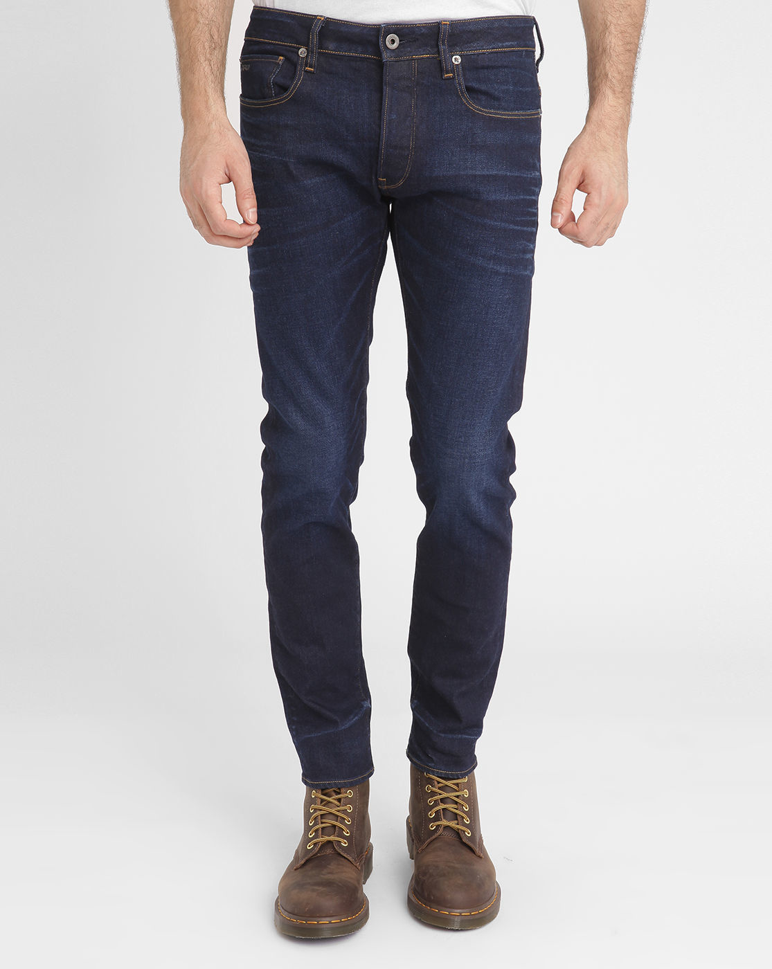 g star raw faded blue 3301 slim fit jeans in blue for men lyst. Black Bedroom Furniture Sets. Home Design Ideas