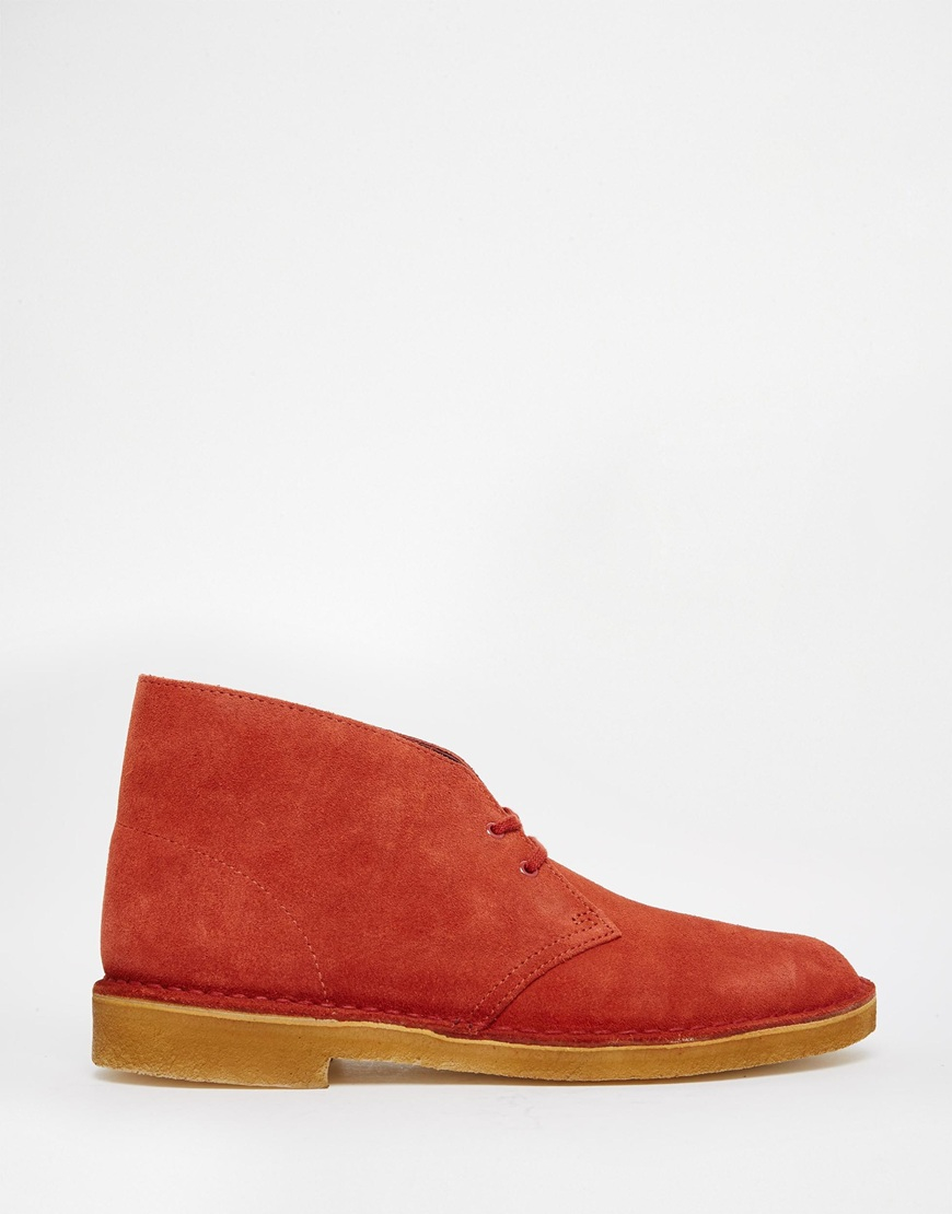 Red Suede Clarks Shoes