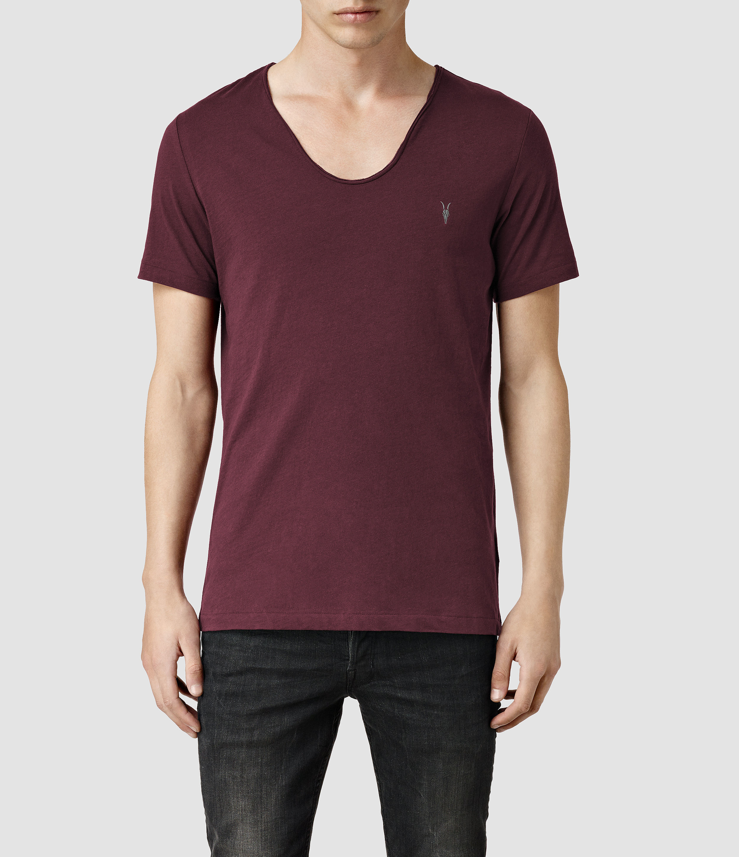 748dc71758d8 AllSaints Tonic Scoop T-shirt in Purple for Men - Lyst