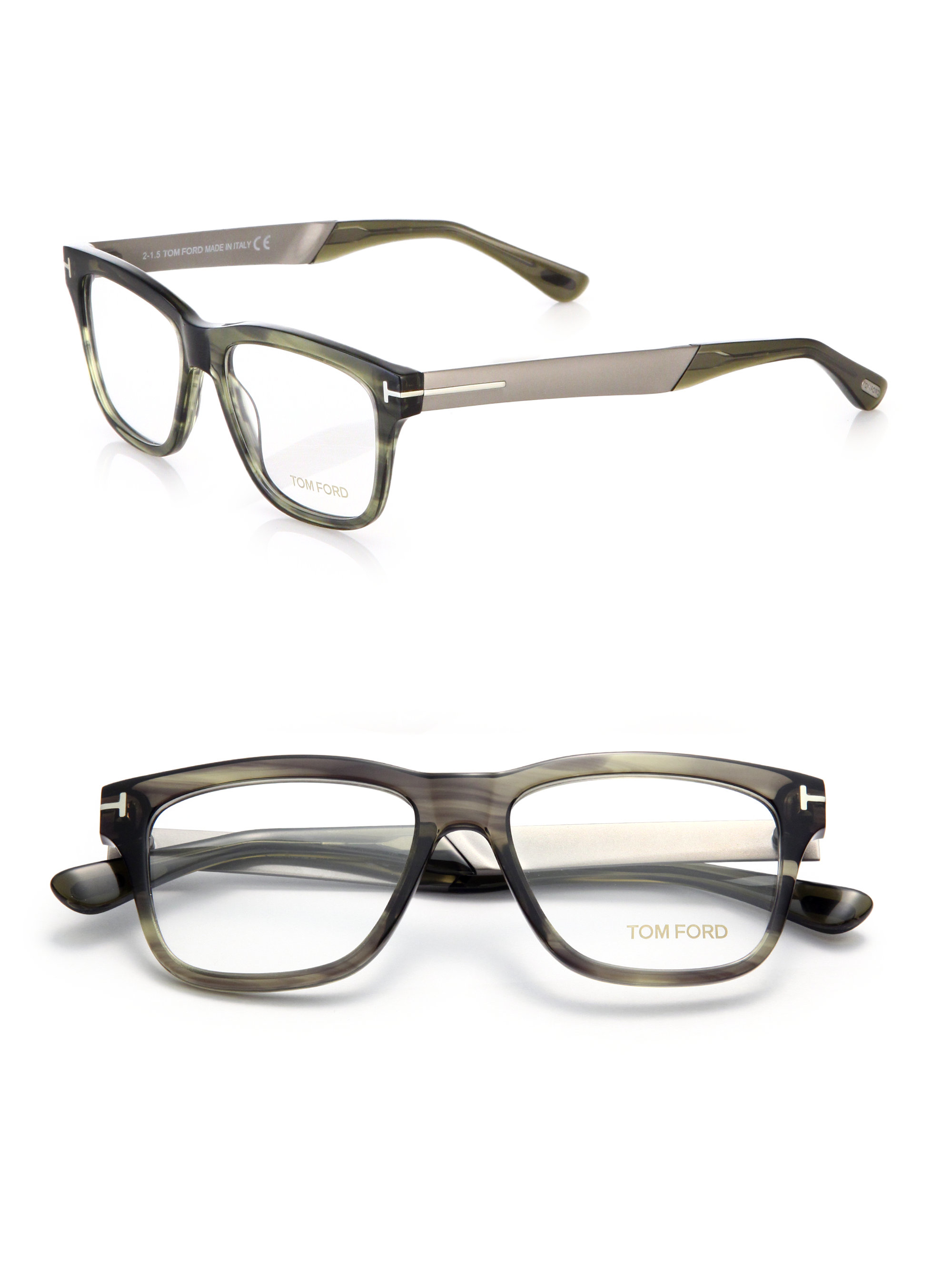 d9c4b04208 tom ford 52mm cat eye optical glasses lyst tom ford 52mm square acetate  metal optical
