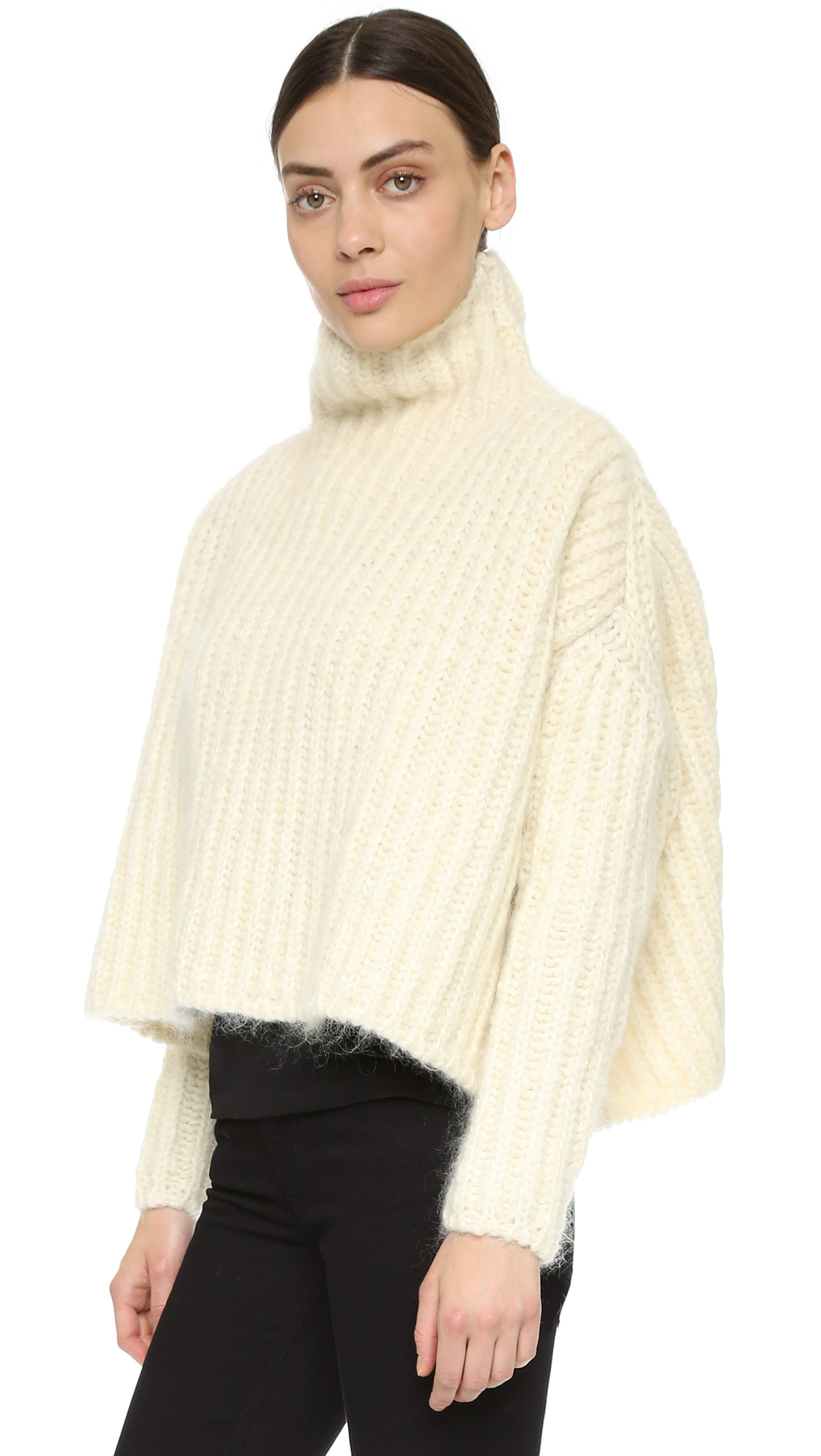 Lyst Acne Studios Baylay Big Chunky Sweater In White