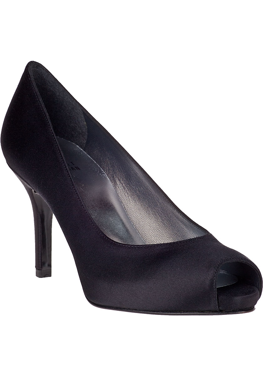 Shop black satin pump at Neiman Marcus, where you will find free shipping on the latest in fashion from top designers.