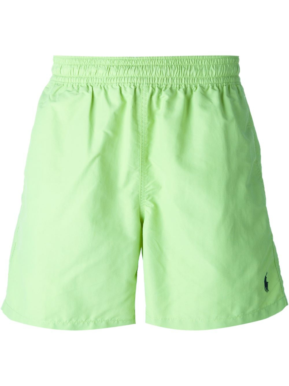 3fd6fa593 ... low price lyst polo ralph lauren logo embroidered swim shorts in green  for men 1f4d3 45cd9