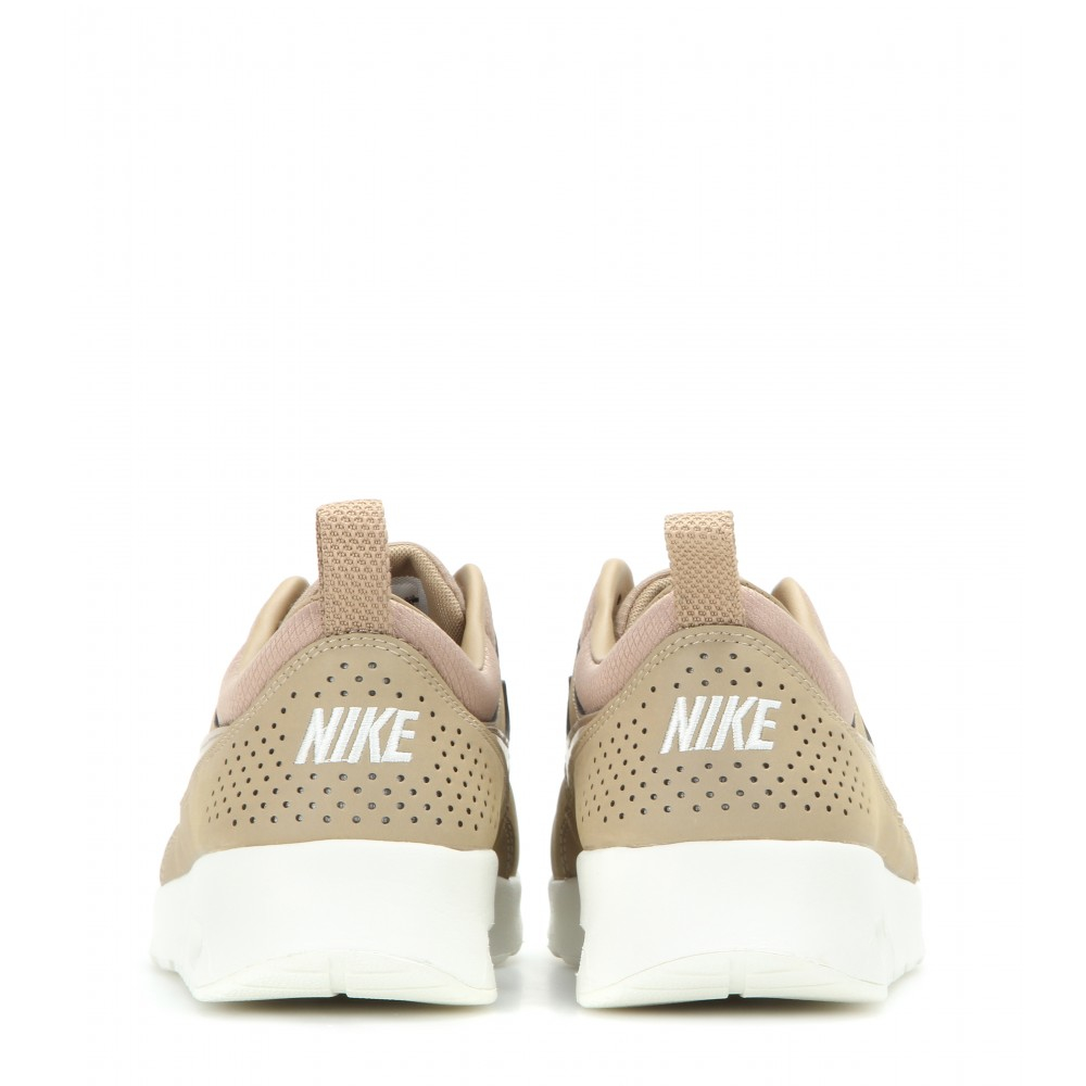 3673c72ee9 Nike Air Max Thea Premium Leather Sneakers in Natural - Lyst