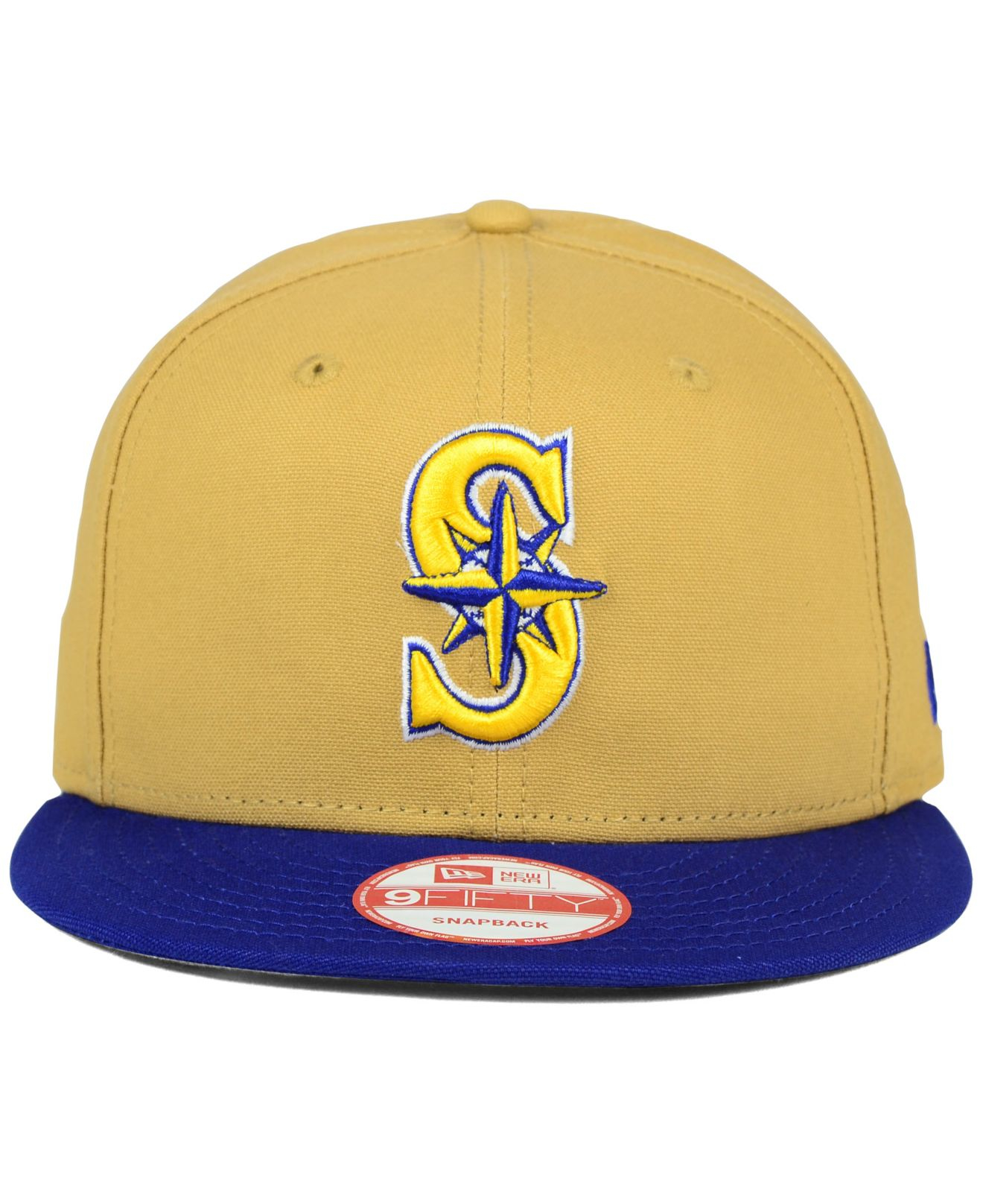 outlet store dde2b ec7b3 cheap lyst ktz seattle mariners classic canvas 9fifty snapback cap in 1fdfd  3b905