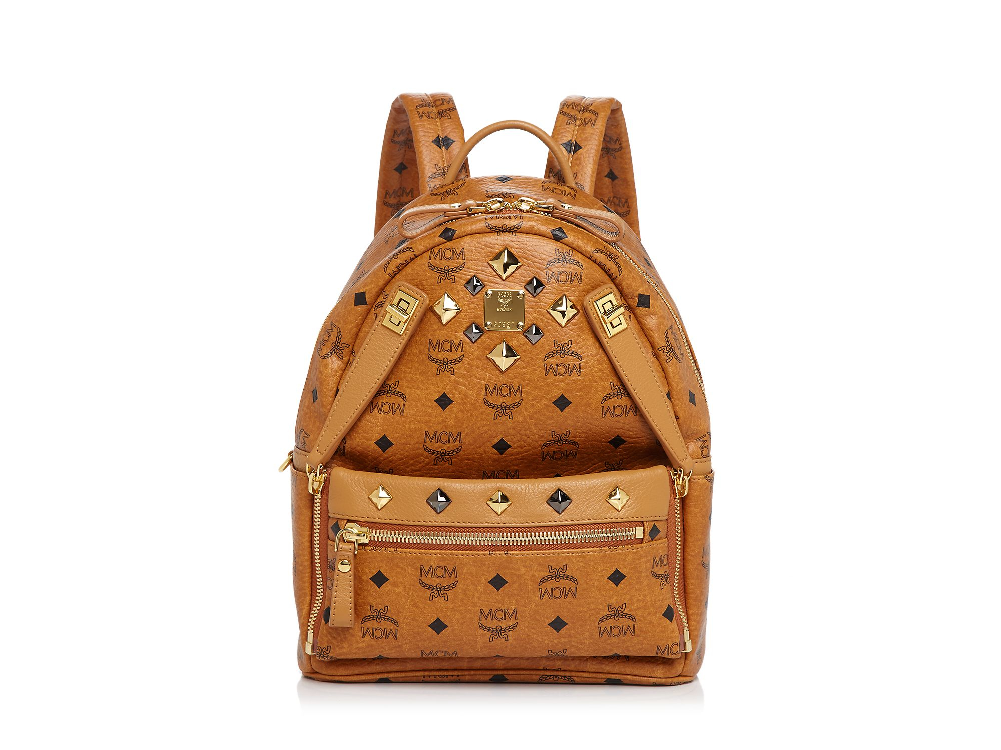lyst mcm backpack dual stark small in brown. Black Bedroom Furniture Sets. Home Design Ideas