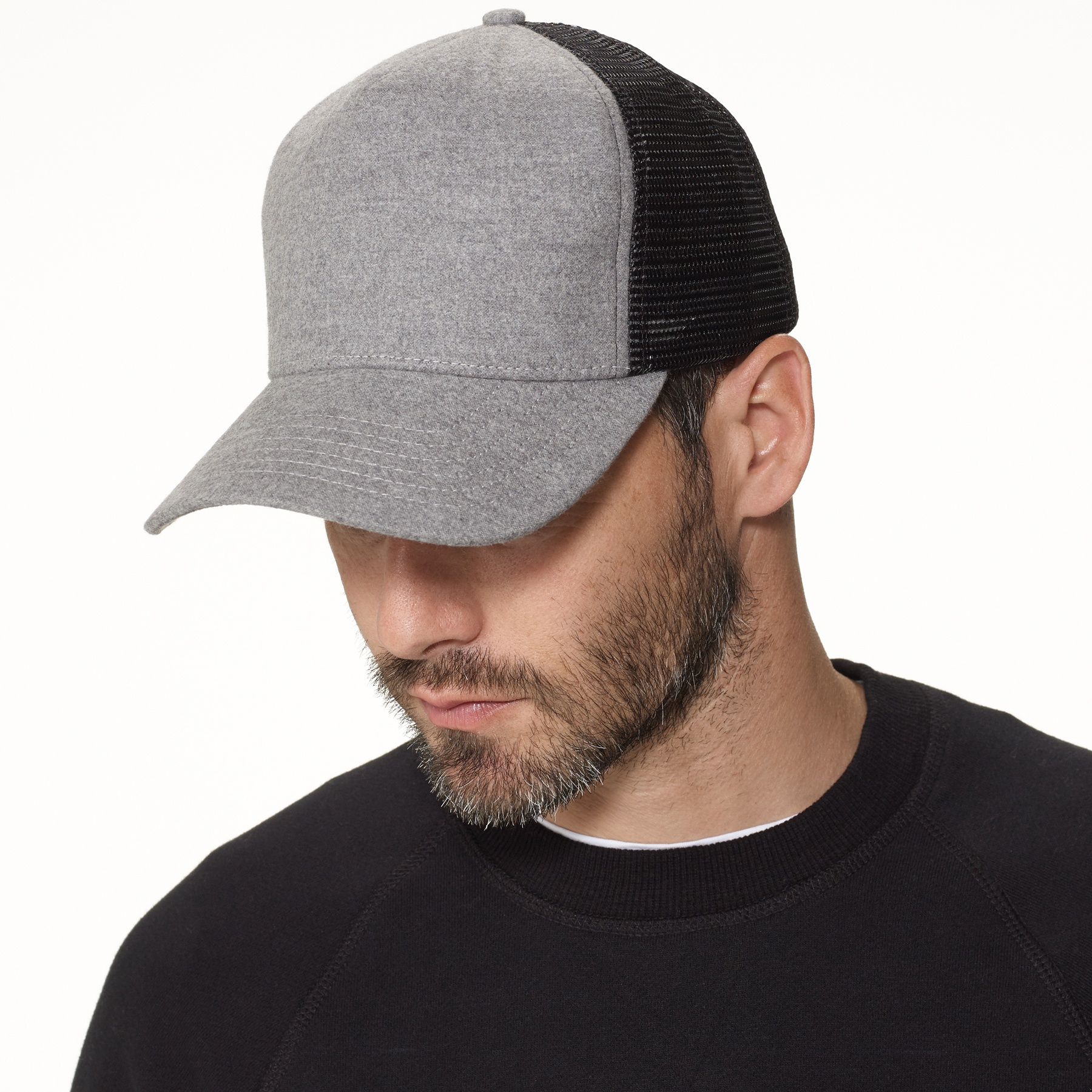 bd110c801fc James Perse Cotton Flannel Trucker Hat in Gray for Men - Lyst