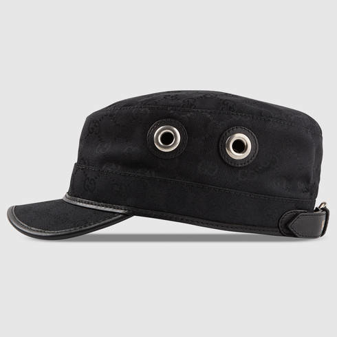 gucci original gg canvas cap in black for men lyst. Black Bedroom Furniture Sets. Home Design Ideas