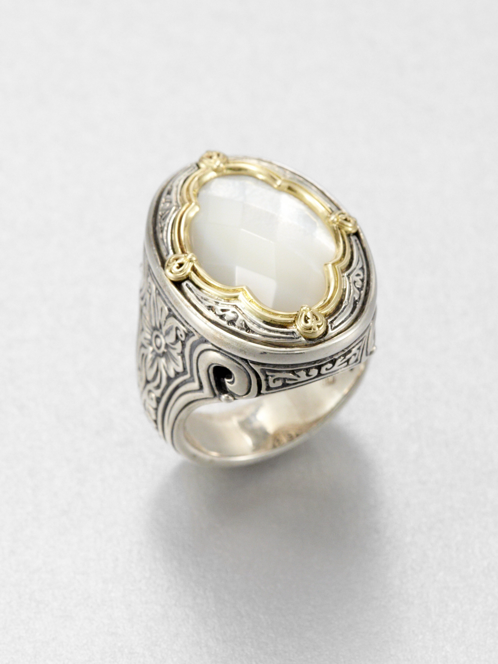 Lyst Konstantino Mother Of Pearl 18k Yellow Gold