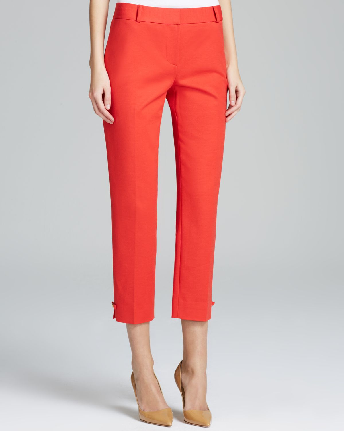 Kate spade new york Jackie Capri Pants in Orange | Lyst