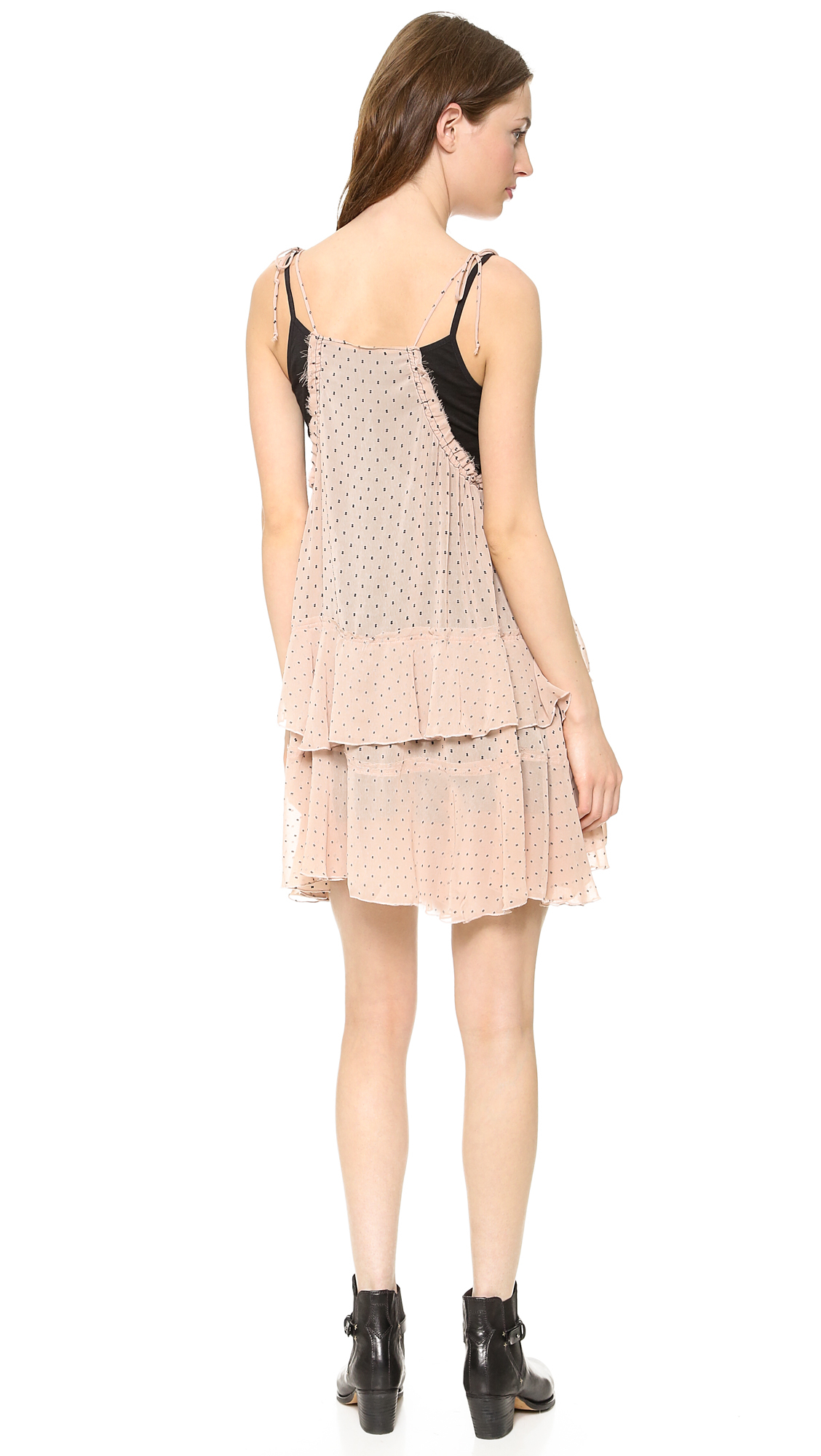 Lyst - Free People Relaxed Tired Ruffle Dress In Pink-5725