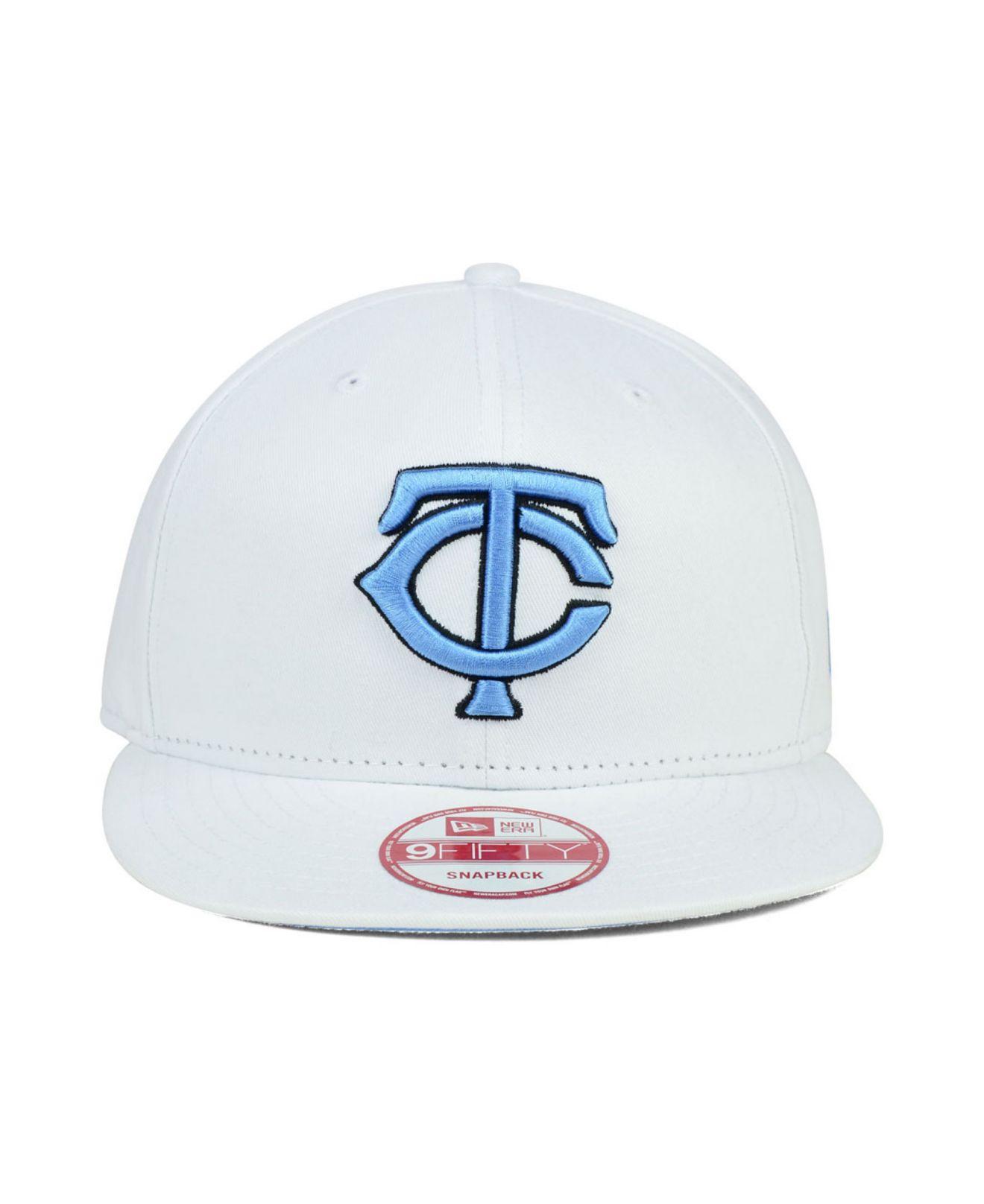 best cheap ff230 6c1d3 KTZ Minnesota Twins Legend Blue Hook 9Fifty Snapback Cap in White ...