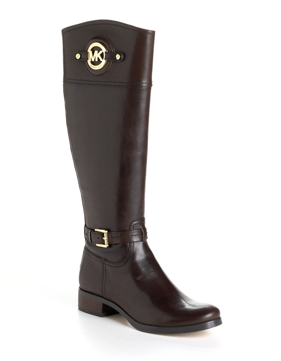 michael michael kors stockard leather boots in