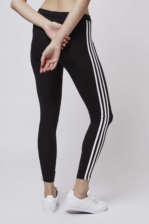 topshop three stripe leggings by adidas originals in black lyst. Black Bedroom Furniture Sets. Home Design Ideas