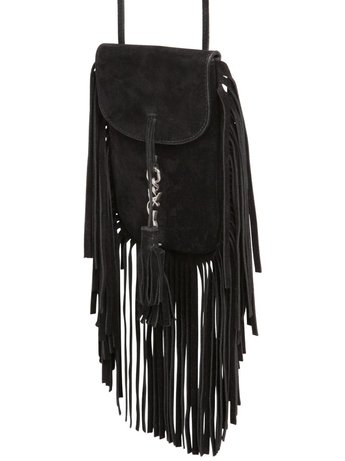 9e64961099 anita mini flat suede shoulder bag with fringe