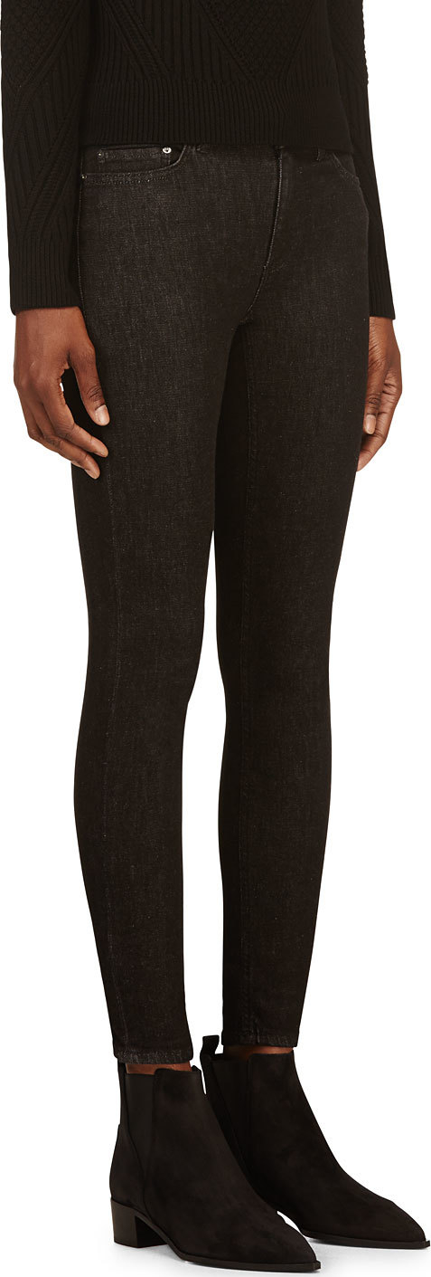 Acne Soft Black Skin 5 Jeans in Black | Lyst