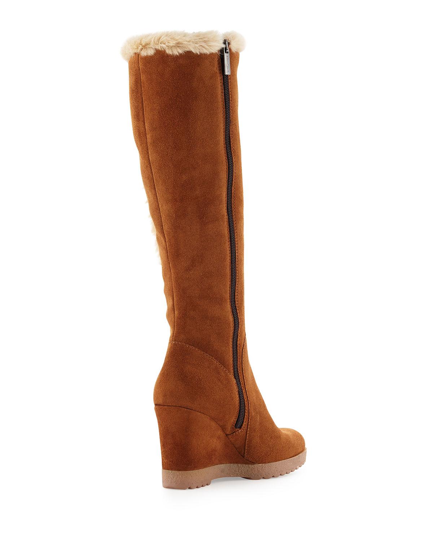 326947827b3 Lyst - Aquatalia Curran Suede Wedge Weather-resistant Boot in Brown