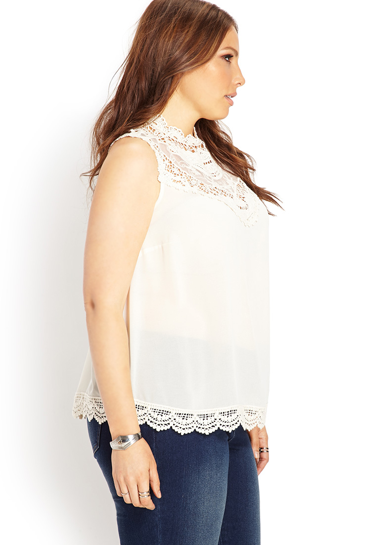 7b2ddb5760 Lyst - Forever 21 Boho Babe Crochet Top in Natural