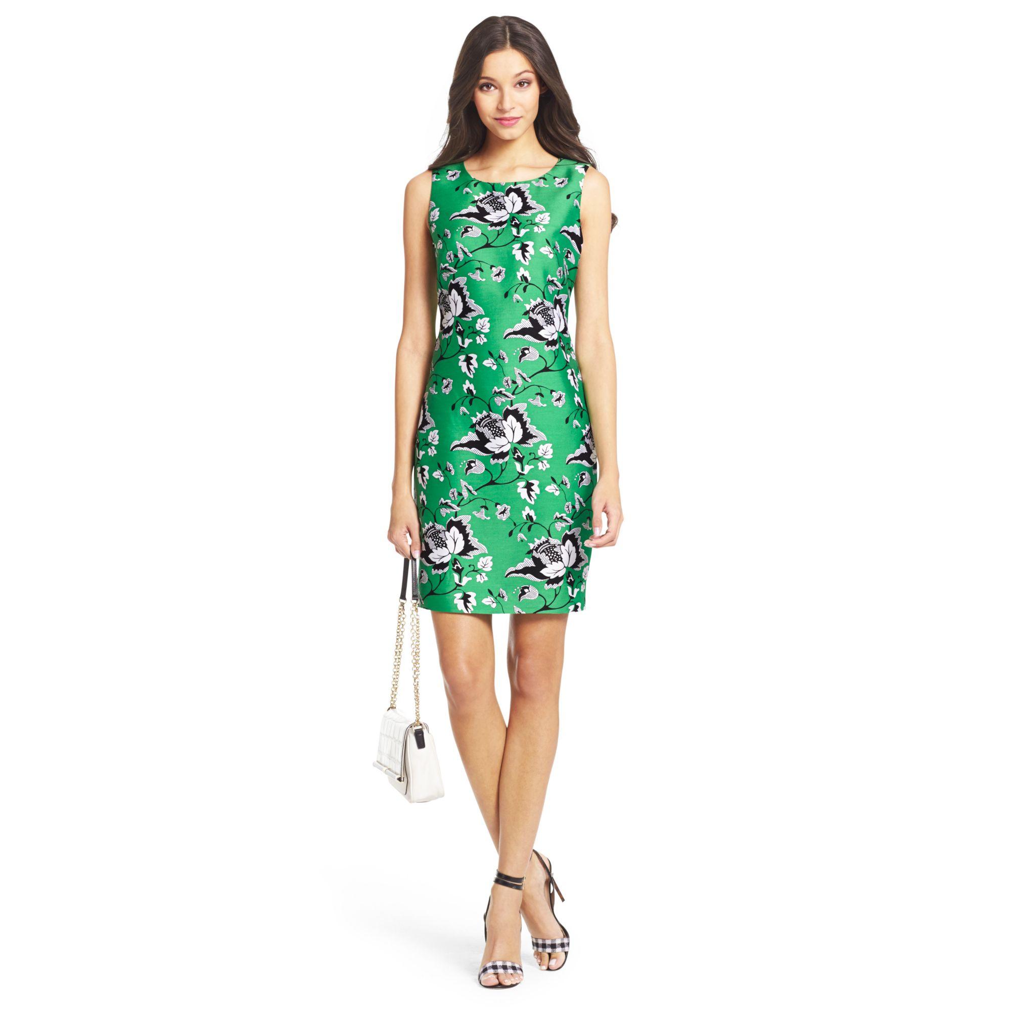 d41029880b2f4 Diane von Furstenberg Dvf Sofia Silk Wool Shift Dress in Green - Lyst