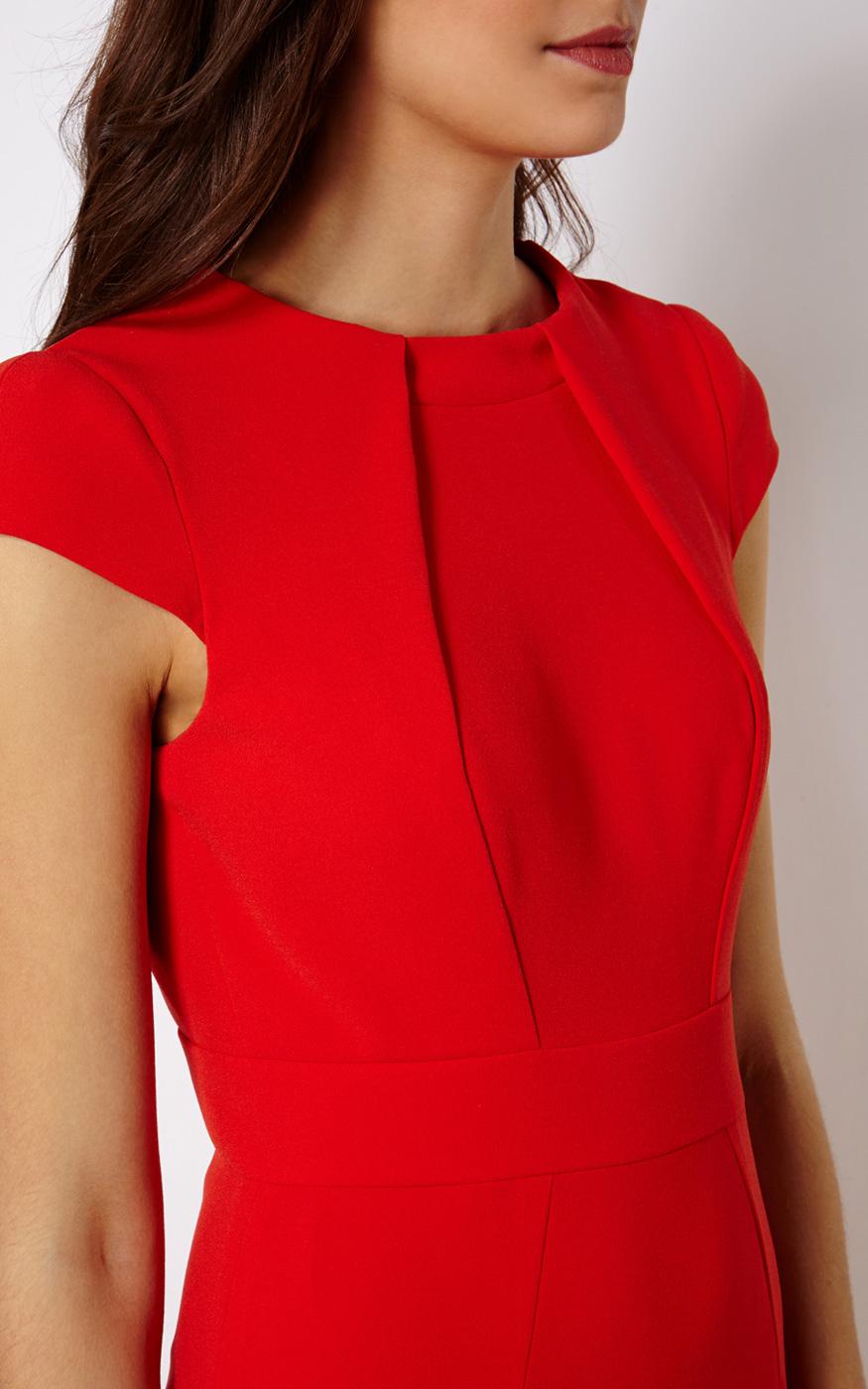 Karen millen red pencil dress in red lyst