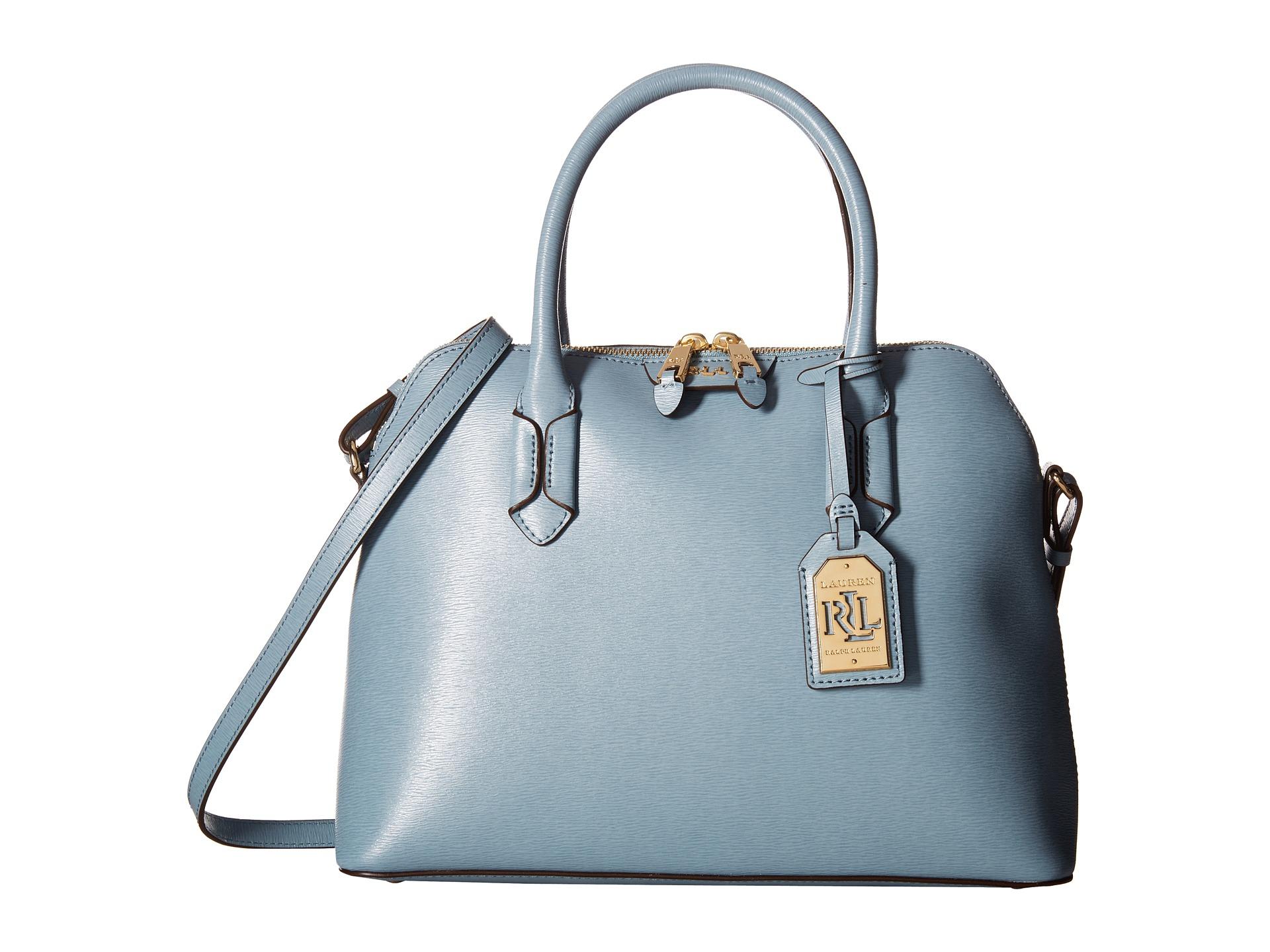 Ralph Lauren Tate Dome Satchel Laukku : Lauren by ralph tate dome satchel in blue lyst