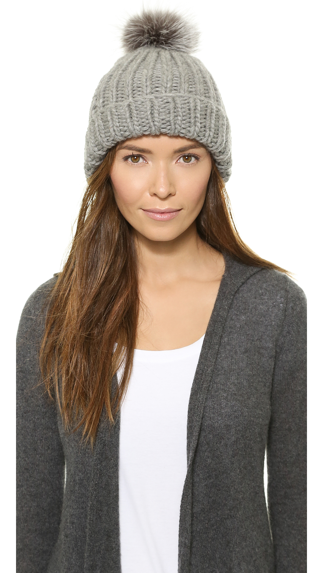 2aa067e3013 Lyst - Eugenia Kim Rain Pom Pom Hat - Black in Gray