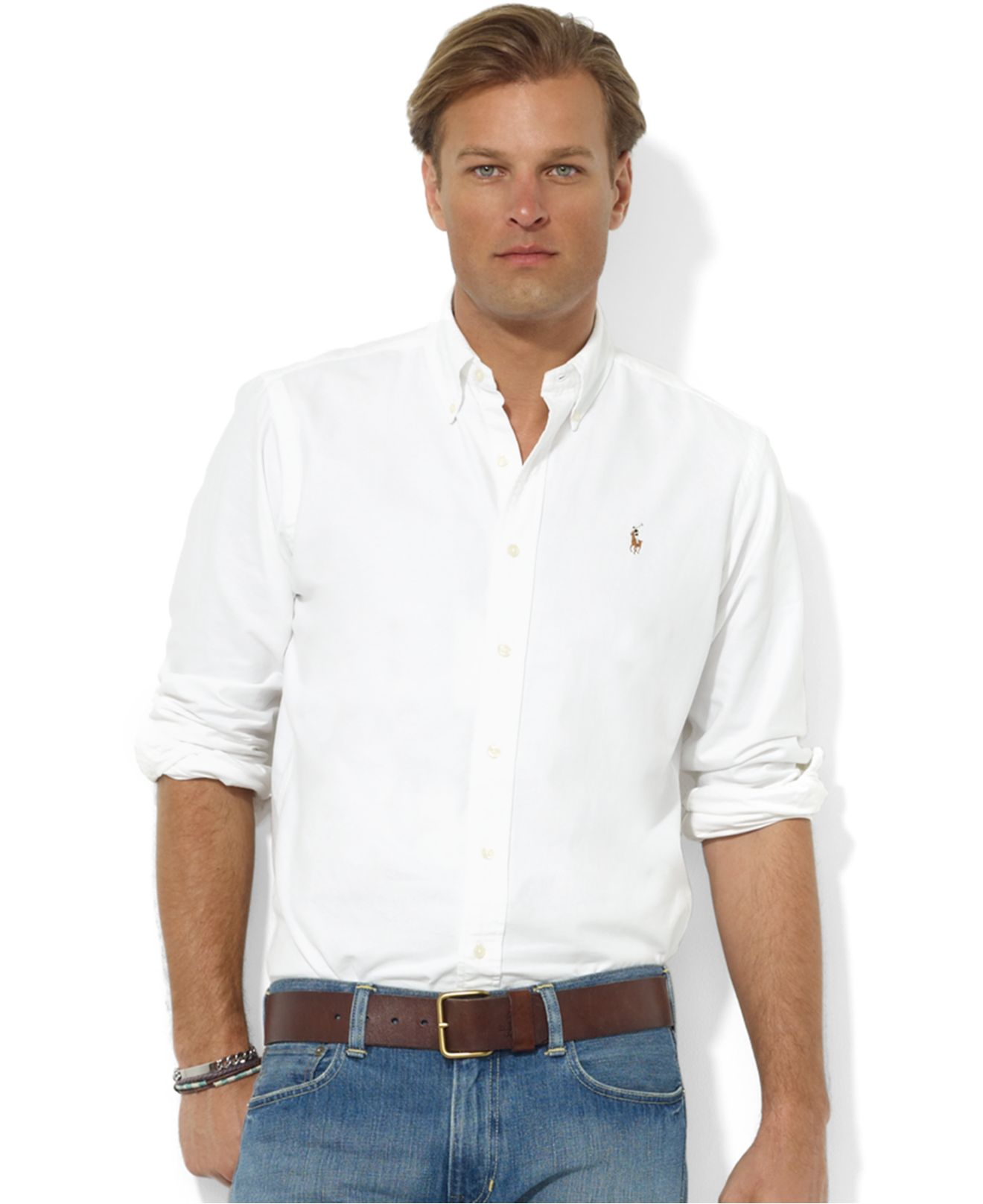 Lyst - Polo Ralph Lauren Core Classic Fit Oxford Shirt in White for Men b37ce380b69e