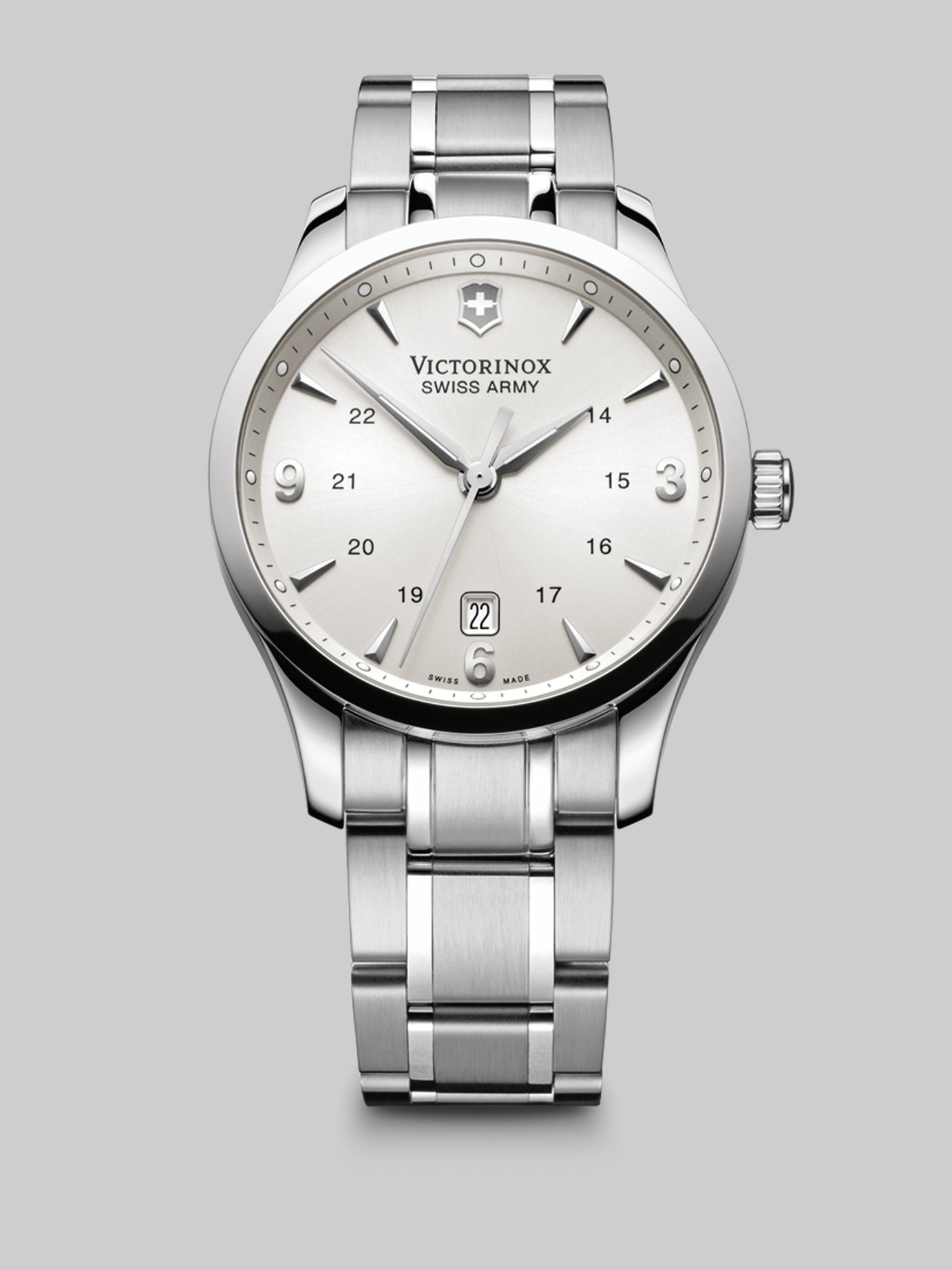 Lyst victorinox alliance stainless steel watch in metallic for men for Metal watches
