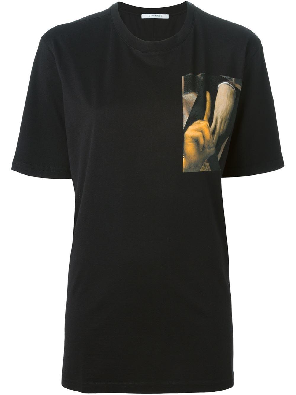 givenchy la print t shirt in black lyst. Black Bedroom Furniture Sets. Home Design Ideas