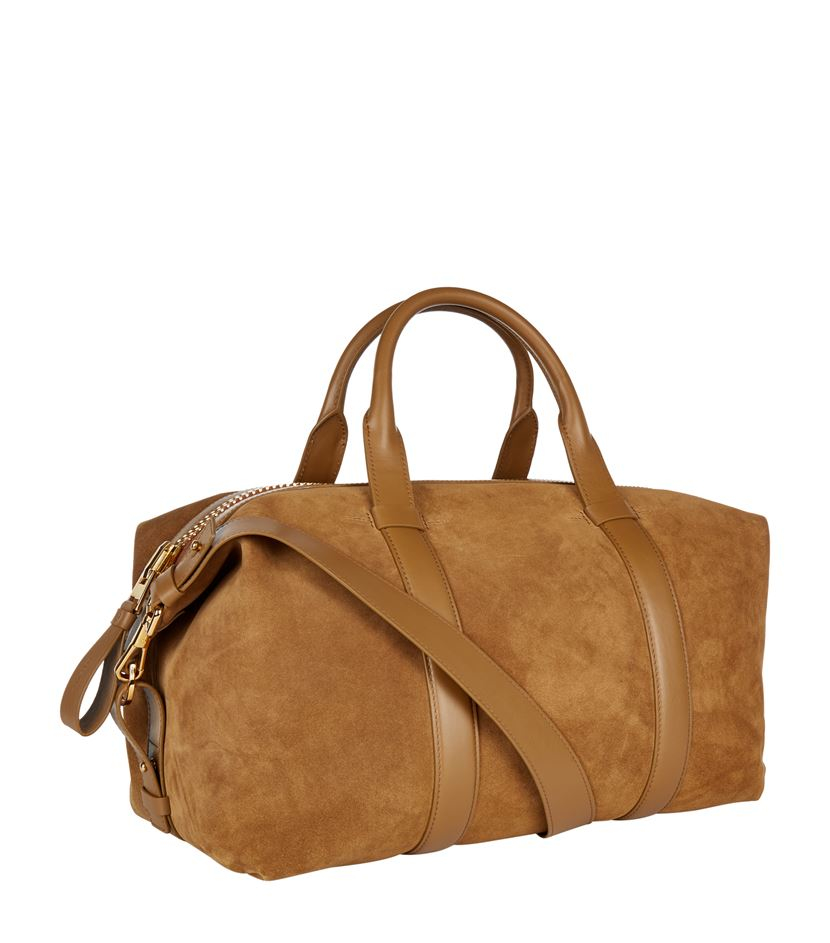 Tom ford Weekender Suede Duffle Bag for Men | Lyst
